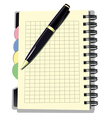 Appointment Book with Pen vector image