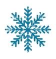 Snowflake grunge icon vector image