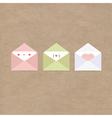 greetings letter envelopes kraft paper vector image