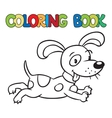 Coloring book of little dog or puppy vector image