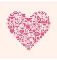 Valentines Day mosaic icons vector image
