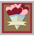 Abstract Paper Bouquet of Hearts with banner vector image