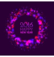 Abstract purple round frame vector image