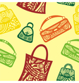 Bags seamless pattern background vector image