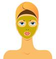 beauty mask vector image