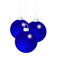 Blue Christmas balls vector image
