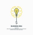 bright colorful poster business idea with brain vector image