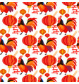 chinese new year rooster on white background patte vector image