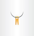 clothespin icon symbol vector image