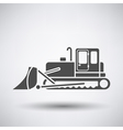 Construction bulldozer icon vector image