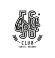 Golf club emblem in retro style vector image
