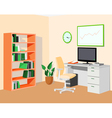 GreenOrangeEcoOffice vector image