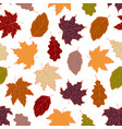 leaves seamless fall 3 vector image