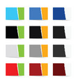 paper collection in color set vector image