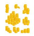 pound coin heaps vector image