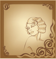 roaring 20-s art nouveau beackground with blond vector image