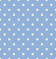 Seamless polka dot blue pattern with circles vector image