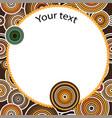 aboriginal art seamless background vector image vector image