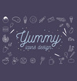 yummy icons design set vector image