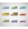 flat retro color stickers - set five vector image