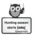 Hunting season vector image