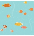 Seamless pattern with bright fish vector image