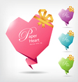 heart shaped paper vector image vector image