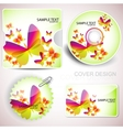 templates for cd and cards vector image vector image