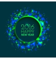Abstract green and blue round frame vector image