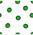 Cute seamless pattern with green circles vector image