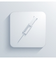 modern syringe light icon vector image