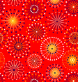Seamless fireworks pattern vector image