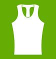 sleeveless shirt icon green vector image