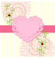 Springtime Love Card with Flower vector image