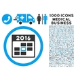 2016 Calendar Day Icon with 1000 Medical Business vector image