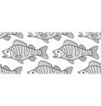 bass fish contour pattern vector image