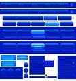 Web Navigation Menu And Buttons vector image vector image