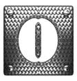 metal figure o vector image