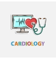 Concept Icon for cardiology vector image