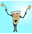 Coffee cup to go charakter vector image