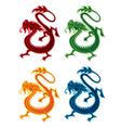 eastern dragon design element vector image vector image