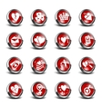 3d icons valentines day set vector image vector image