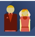 flat icon with long shadow bride and groom vector image