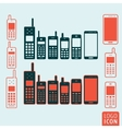 Mobile phone icon isolated vector image