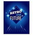 retro disco 80s neon with text retro and vector image