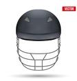 Black Cricket Helmet Front View vector image