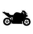 black silhouette on a motorcycle vector image