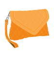 Clutch bag vector image