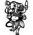 Dancing Ganesha B vector image