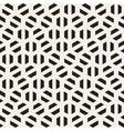 Seamless Black And White Hexagon Shape vector image